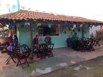 Um dos restaurantes